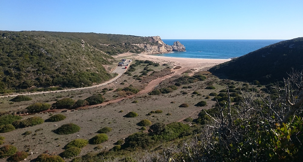 Hippie-Strand Barranco in der Algarve