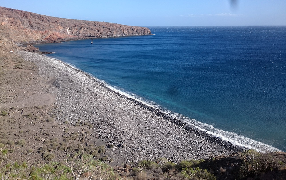 La Gomera: Der Strand Playa Chinguarime